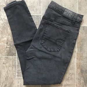 American Eagle Faded Black Skinny Jeans